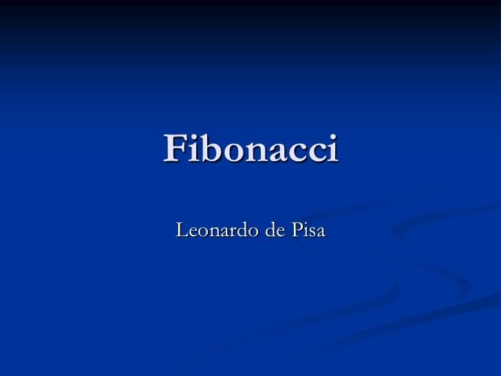 FibonacciLeonardo de Pisa