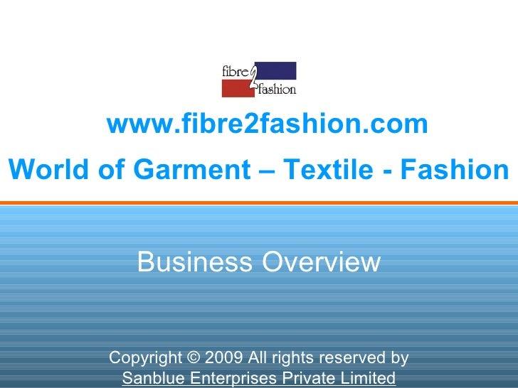 Fibre2fashion Business Overview Detail