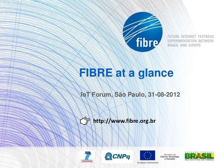 FIBRE at a glance