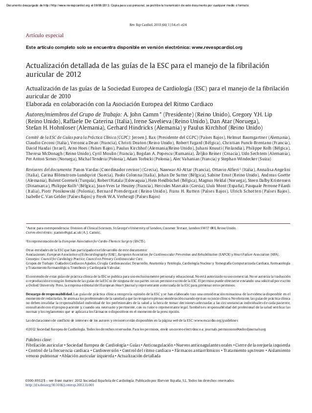 Documento descargado de http://http://www.revespcardiol.org el 08/08/2013. Copia para uso personal, se prohíbe la transmis...