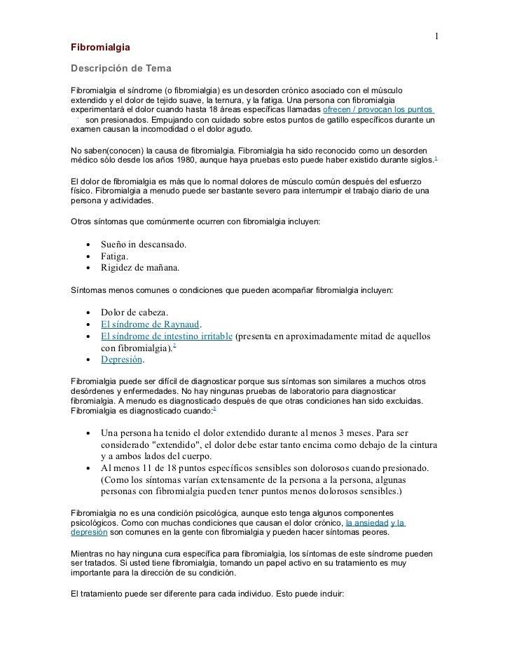 1FibromialgiaDescripción de TemaFibromialgia el síndrome (o fibromialgia) es un desorden crónico asociado con el músculoex...