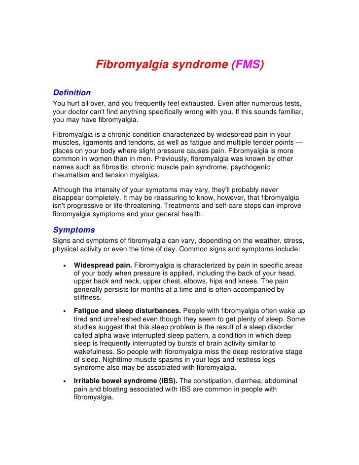 Fibromyalgia Syndrome  Fms