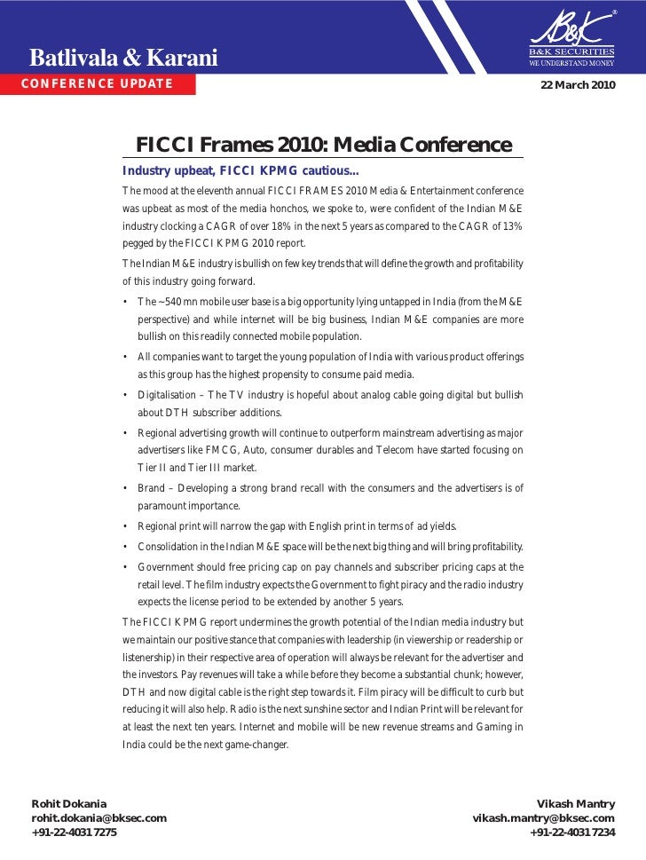Ficci frames bk march 2010