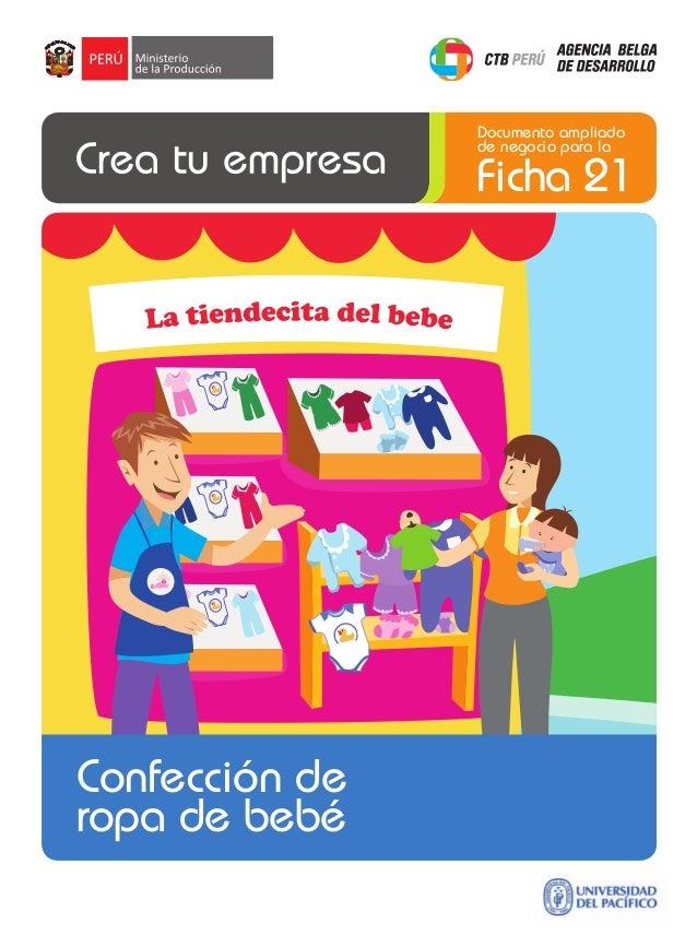 Documento ampliado de negocio para la  Ficha 21  Confección de ropa de bebé