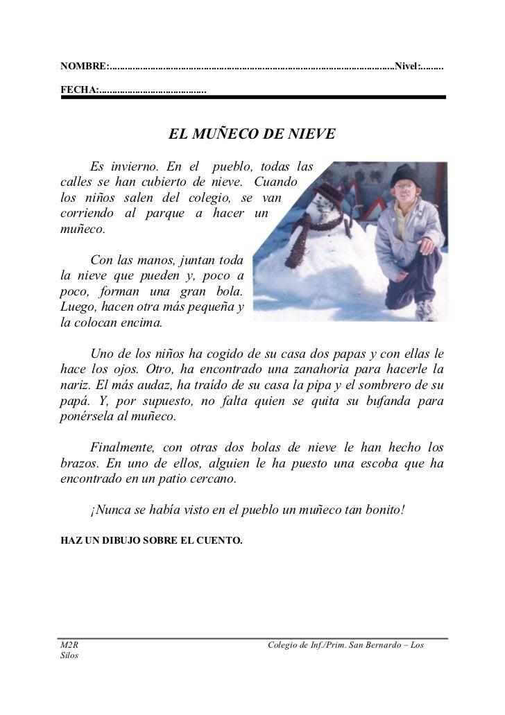 Ficha 2.el muñeco de nieve