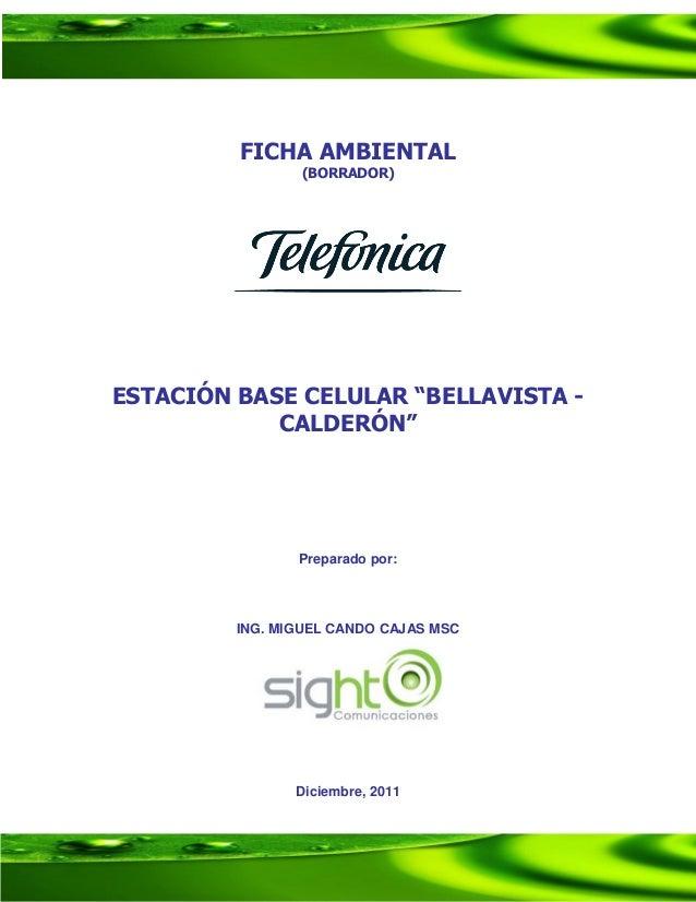 Ficha ambiental ebc calderon