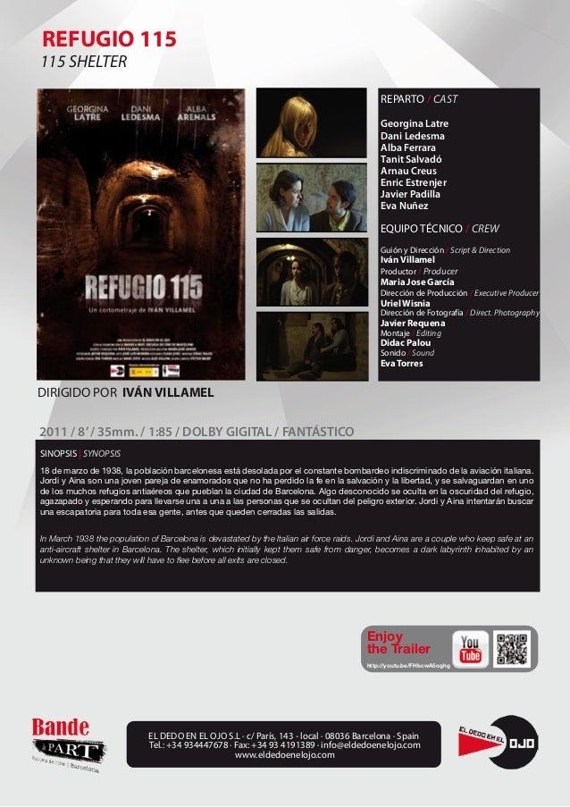 Ficha cortometraje Refugio 115 de Iván Villamel. Producido por Bande á Part y El dedo en el ojo.