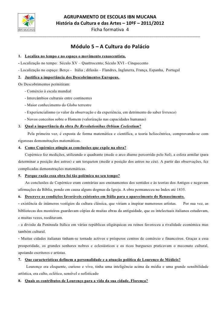Ficha cultura do palacio