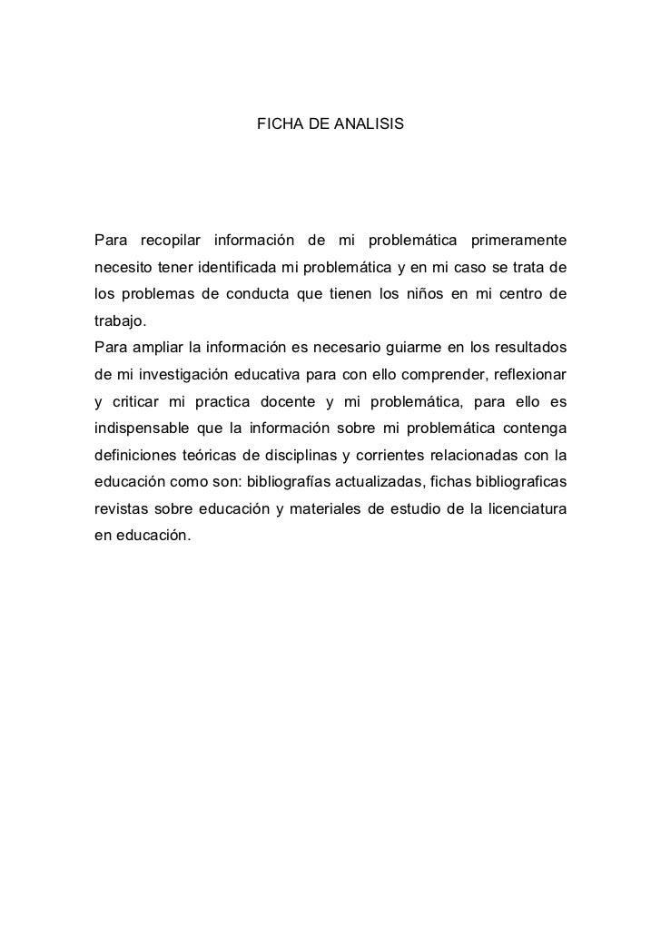 Ficha de analisis