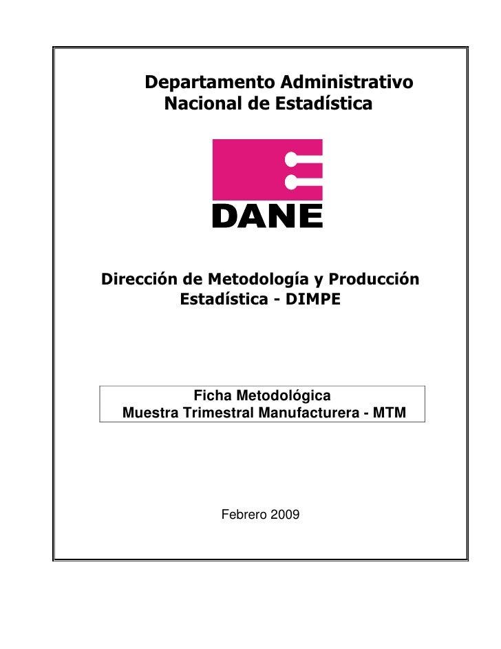 Ficha De Dane Manufacturera