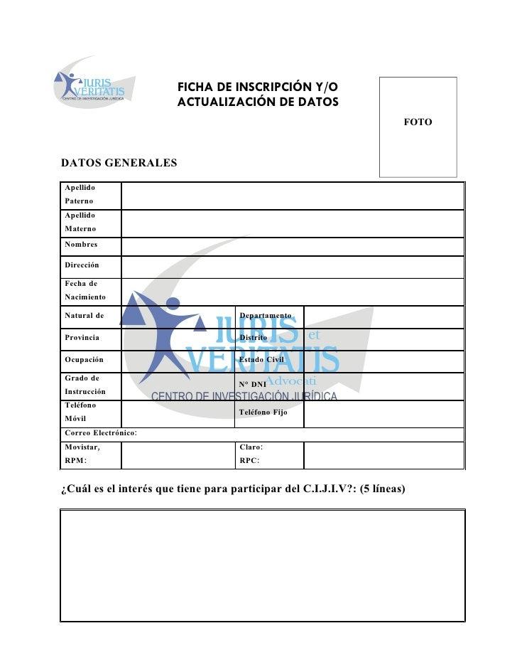 Ficha de inscripción cijiv