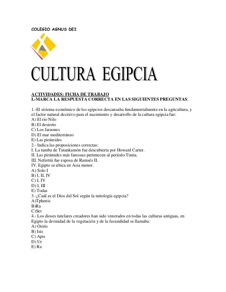 COLEGIO AGNUS DEIACTIVIDADES: FICHA DE TRABAJOI.-MARCA LA RESPUESTA CORRECTA EN LAS SIGUIENTES PREGUNTAS:1.-El sistema eco...