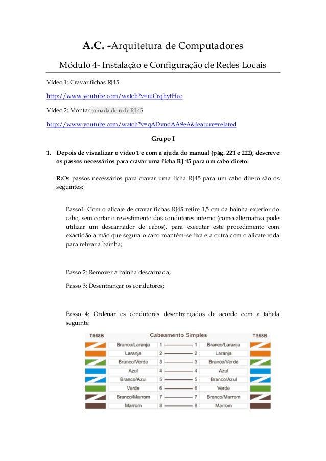 Ficha de trabalho 4  ferramentas e acessórios de redes