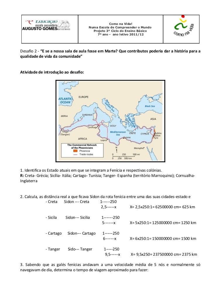 Ficha de Trabalho de História e Geografia