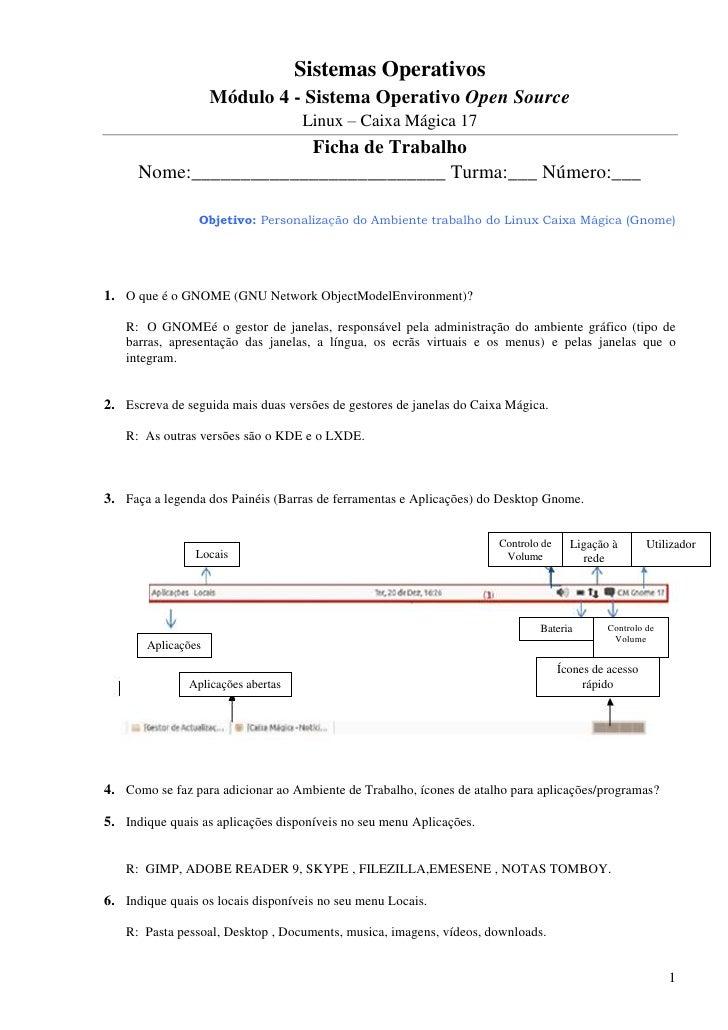 Sistemas Operativos                    Módulo 4 - Sistema Operativo Open Source                                    Linux –...