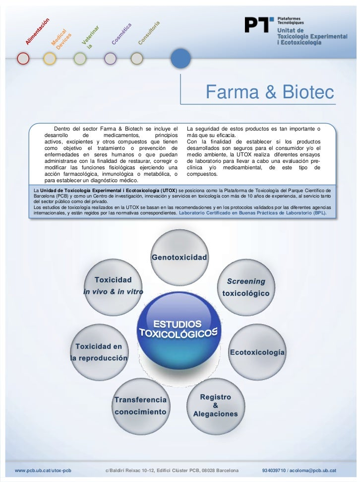 Farma & Biotec                Dentro del sector Farma & Biotech se incluye el                La seguridad de estos product...