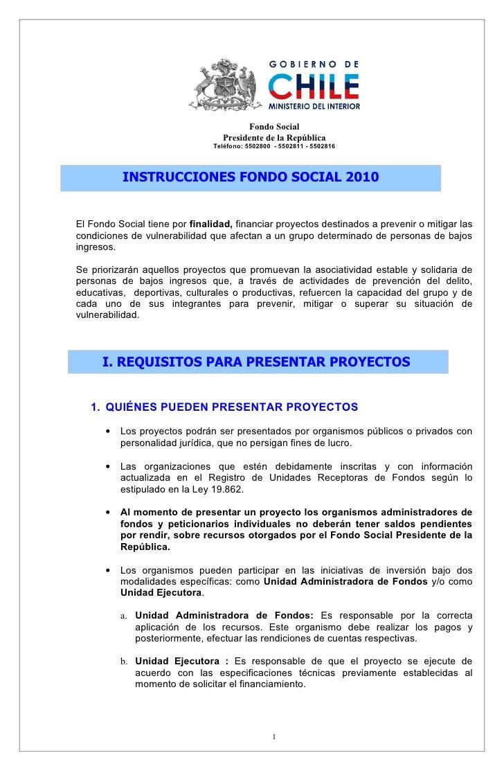 Fondo Social                                   Presidente de la República                                Teléfono: 5502800...