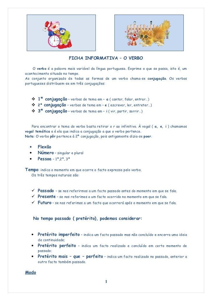 Ficha informativa   o verbo