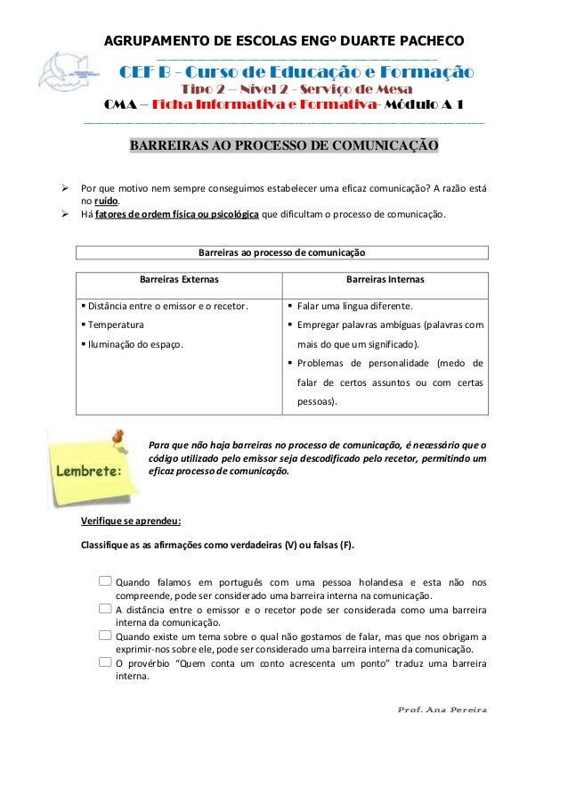 Ficha informativa 1 formativa   barreiras ao processo de comunicação