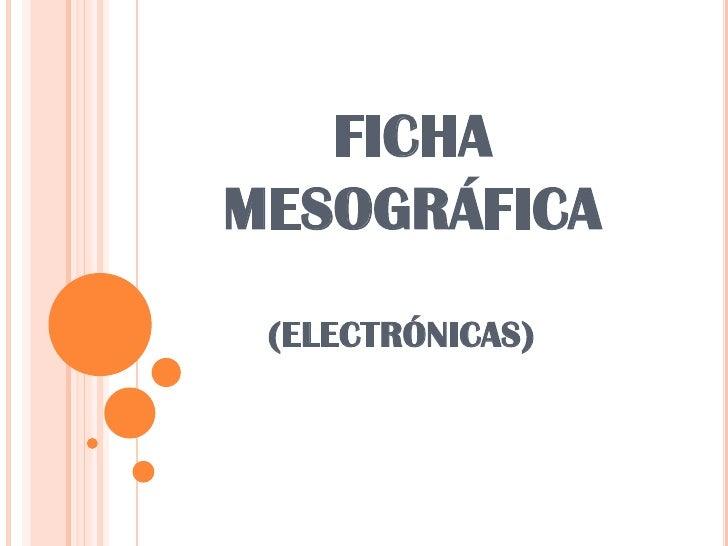 FICHAMESOGRÁFICA (ELECTRÓNICAS)
