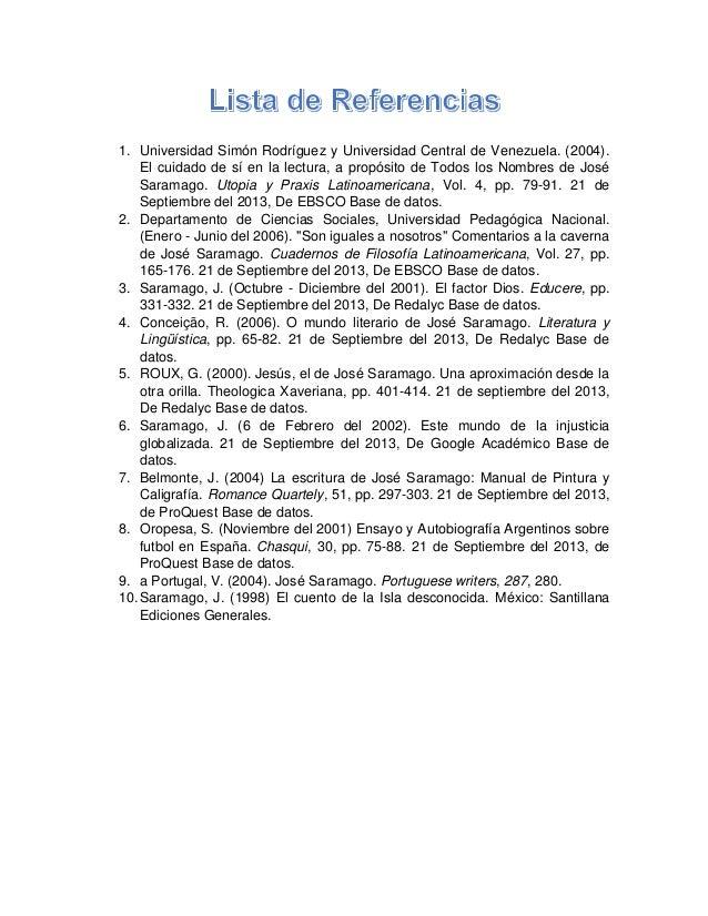 1. Universidad Simón Rodríguez y Universidad Central de Venezuela. (2004). El cuidado de sí en la lectura, a propósito de ...