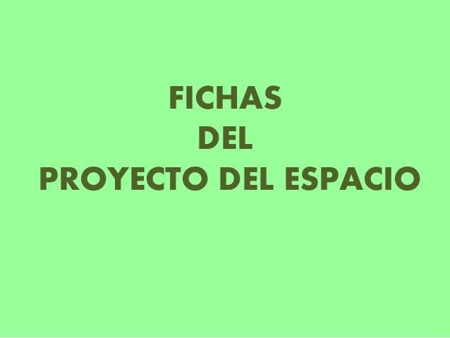 FICHAS DEL PROYECTO DEL ESPACIO