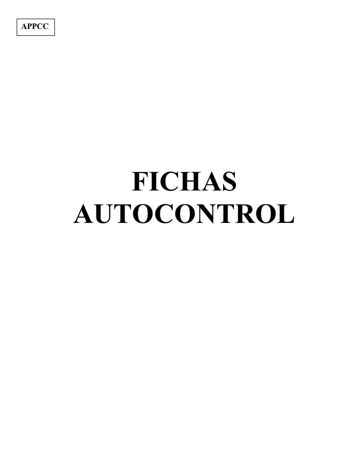 APPCC           FICHAS        AUTOCONTROL