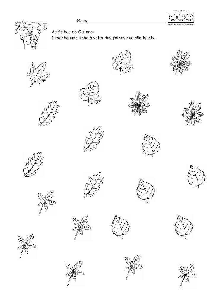ideias para o outono jardim de infancia : ideias para o outono jardim de infancia:Autoavaliação Nome: Como me senti neste trabalho
