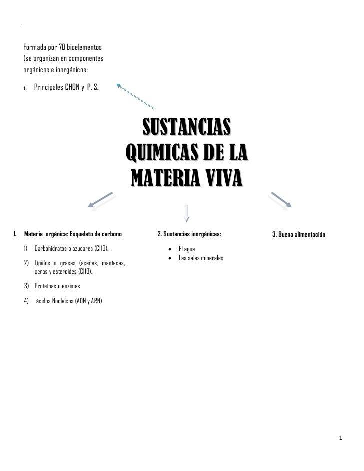 .         Formada por 70 bioelementos         (se organizan en componentes         orgánicos e inorgánicos:         1.   P...