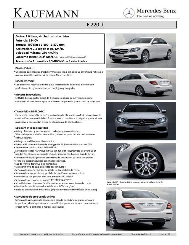 Ficha t cnica mercedes benz e220d for Mercedes benz chat