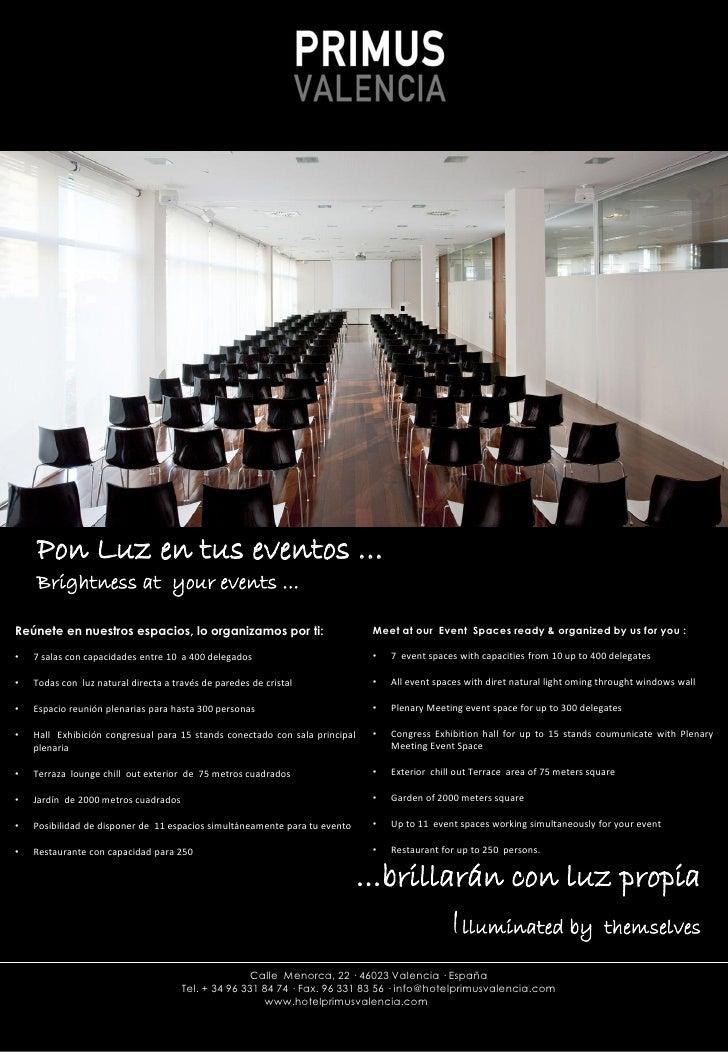 Ficha Tecnica Salas Hotel Primus Valencia