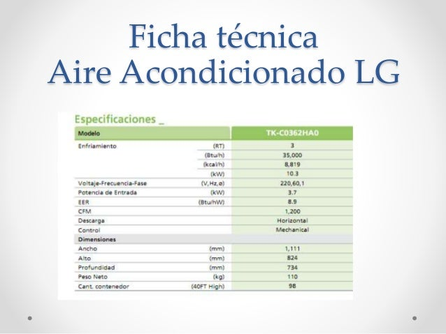 Ficha tecnica y lista de chequeo for Mejores marcas de aire acondicionado