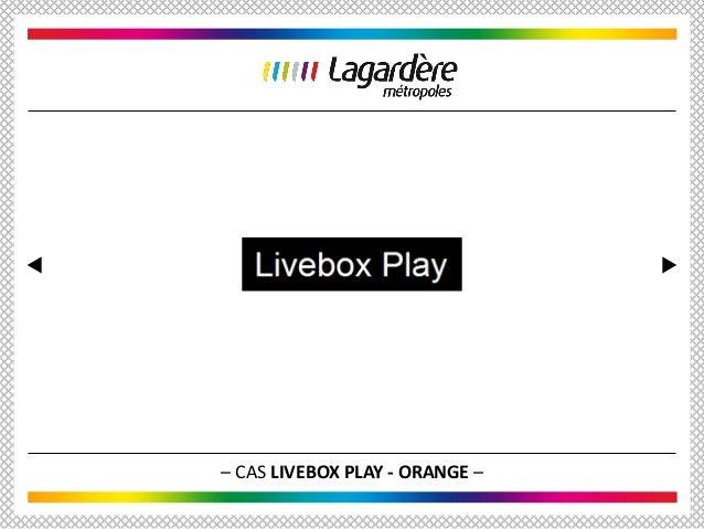 – CAS LIVEBOX PLAY - ORANGE –