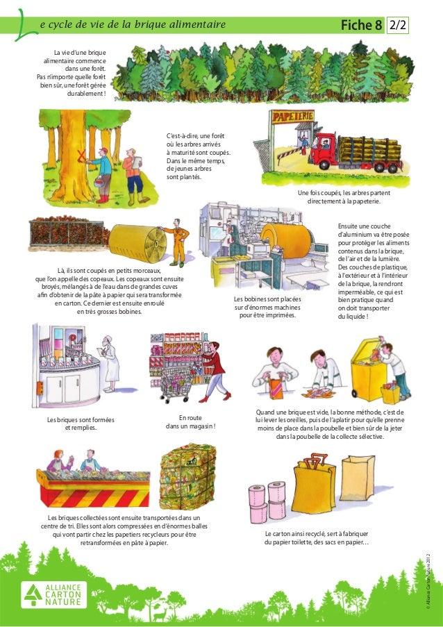 Fiche 8 le cycle de vie des briques alimentaires - Cycle de vie du papier ...