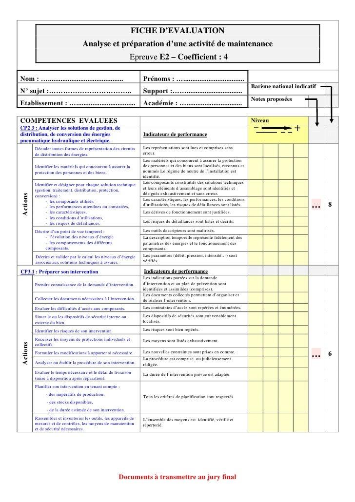 Fiche Devaluation E2 Version Officielle