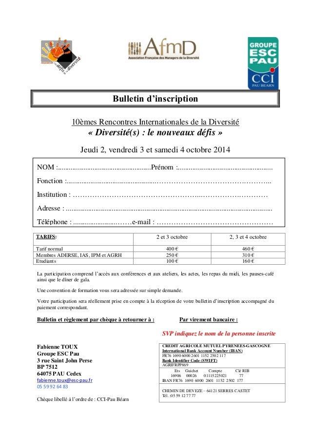 Rencontres internationales de la recherche 2013
