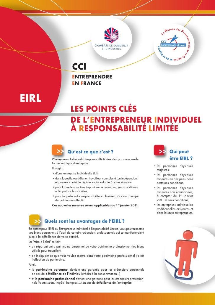 CCI                                    ENTREPRENDRE                                    EN FRANCE  EIRL                    ...