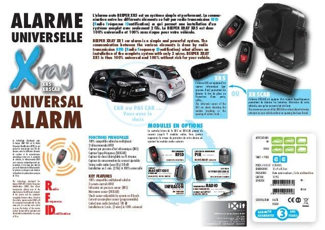 ALARME                                                                  Lalarme auto BEEPER XR5 est un système simple et p...