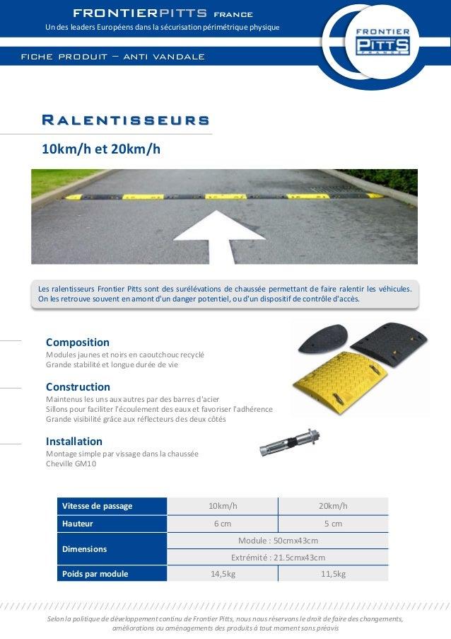 Ralentisseurs Composition Modules jaunes et noirs en caoutchouc recyclé Grande stabilité et longue durée de vie Constructi...