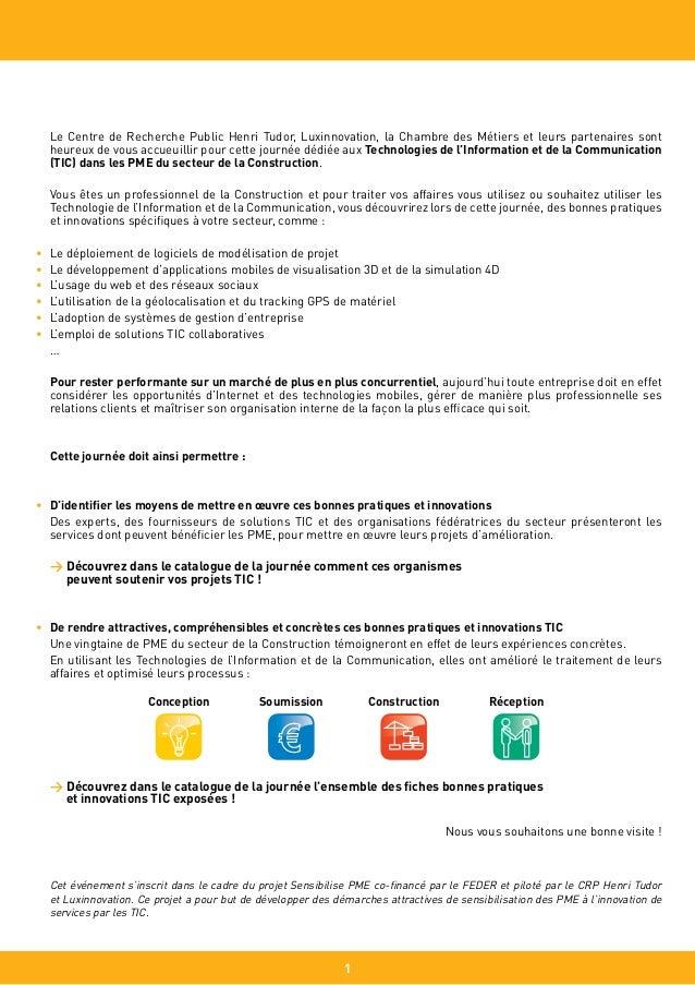 20 fiches Bonnes Pratiques TIC pour PME de la construction