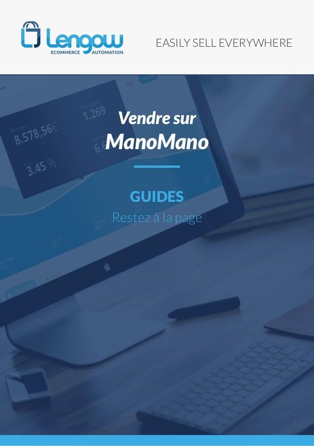 EASILY SELL EVERYWHERE GUIDES Restez à la page Vendre sur ManoMano