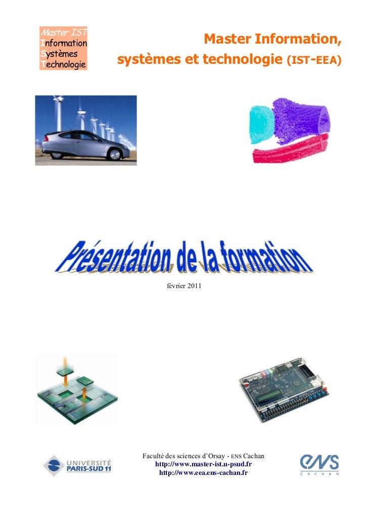 Master ISTInformation               Master Information,SystèmesTechnologie   systèmes et technologie (IST-EEA)            ...