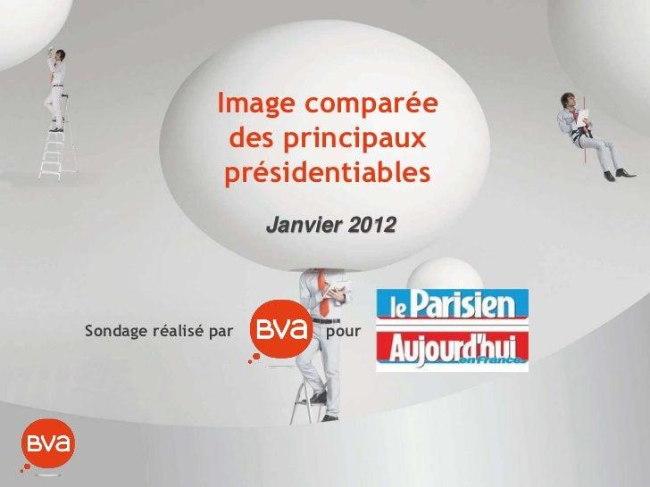 Image comparée                 des principaux                 présidentiables                      Janvier 2012Sondage réa...
