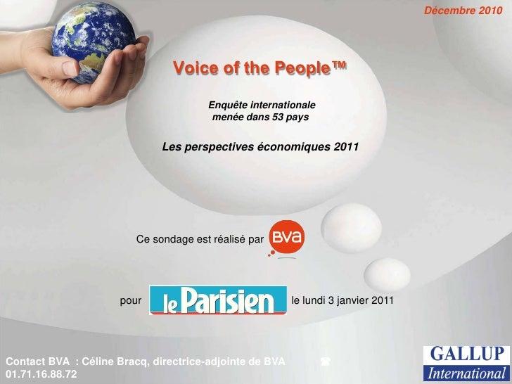 Décembre 2010                                Voice of the People™                                       Enquête internatio...
