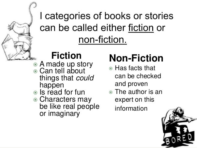 What is the difference between; Non-fictional and Fictional?