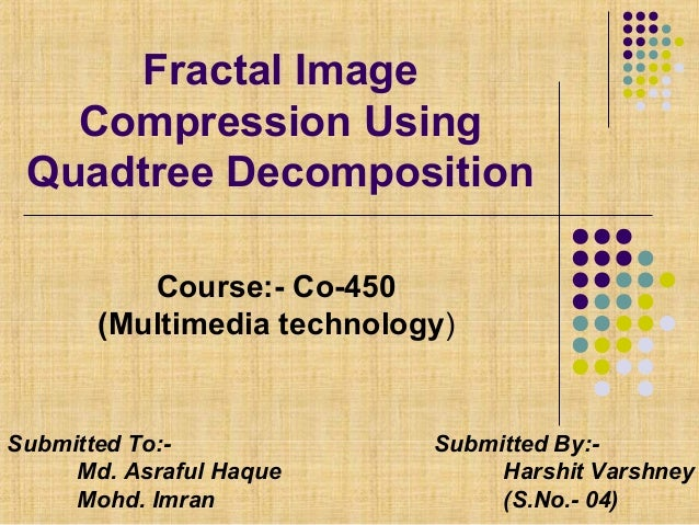 thesis on fractal image compression