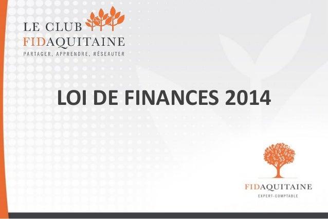 LOI DE FINANCES 2014  1