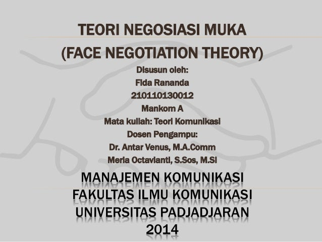 face negotiation theory Fullerton, usa, has introduced to the intercultural field the theory of face  negotiation as a professor, she focuses especially on intercultural  communication.