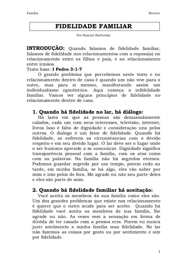 Família                                                 Renovo             FIDELIDADE FAMILIAR                       Por S...