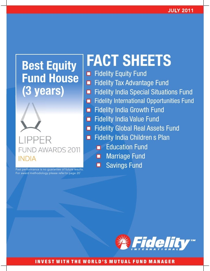 Fidelity equity fact sheet_july2011